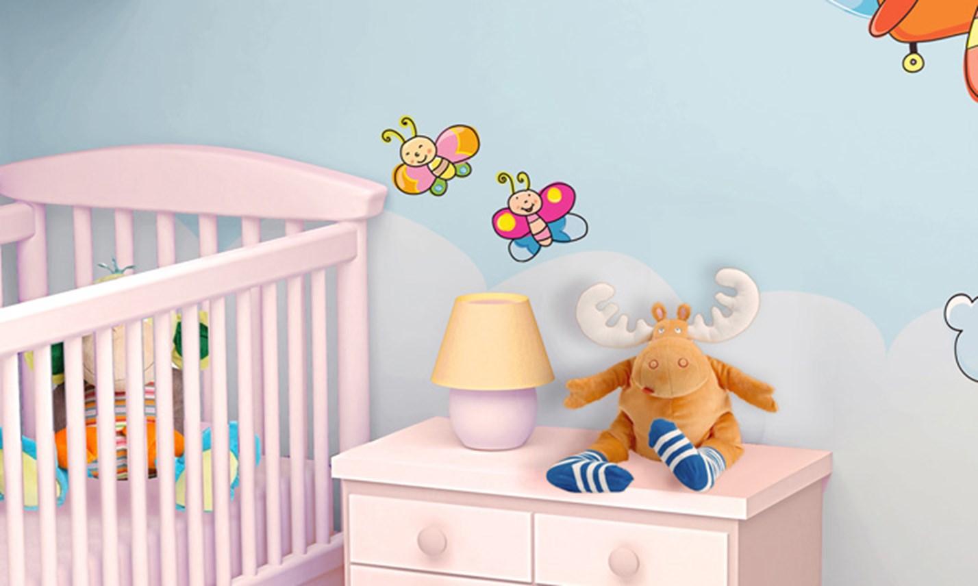 Stencil cameretta neonato adesivi per armadi bambini - Decorazioni camerette bambini immagini ...
